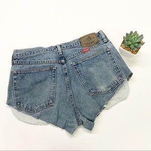 Wrangler Shorts - Vintage Wrangler Cheeky Cut High Waist Jean Shorts